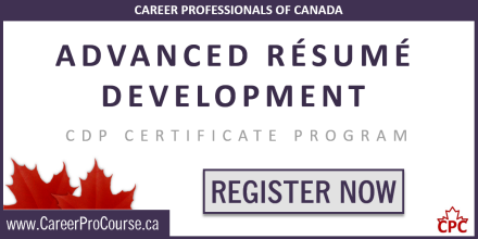 Advanced Resume Development Certificate Program – CDP-05